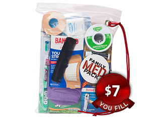 Family Med Packs ($7, you fill)