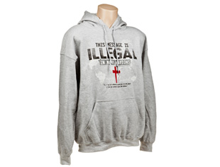 Illegal Hoodie, Gray (L)