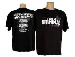I Am a Criminal T-Shirt (L)