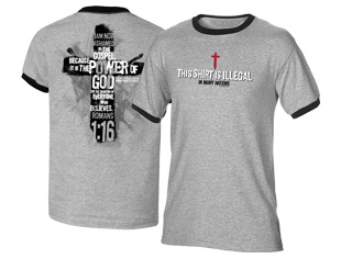 Illegal T-Shirt (gray with black) (L)